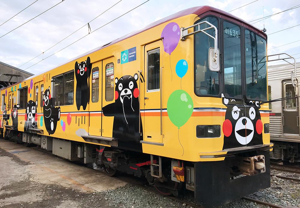 熊本電気鉄道 くまもんラッピング